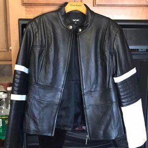 Bebe Sport Leather Jacket absolutely beautiful